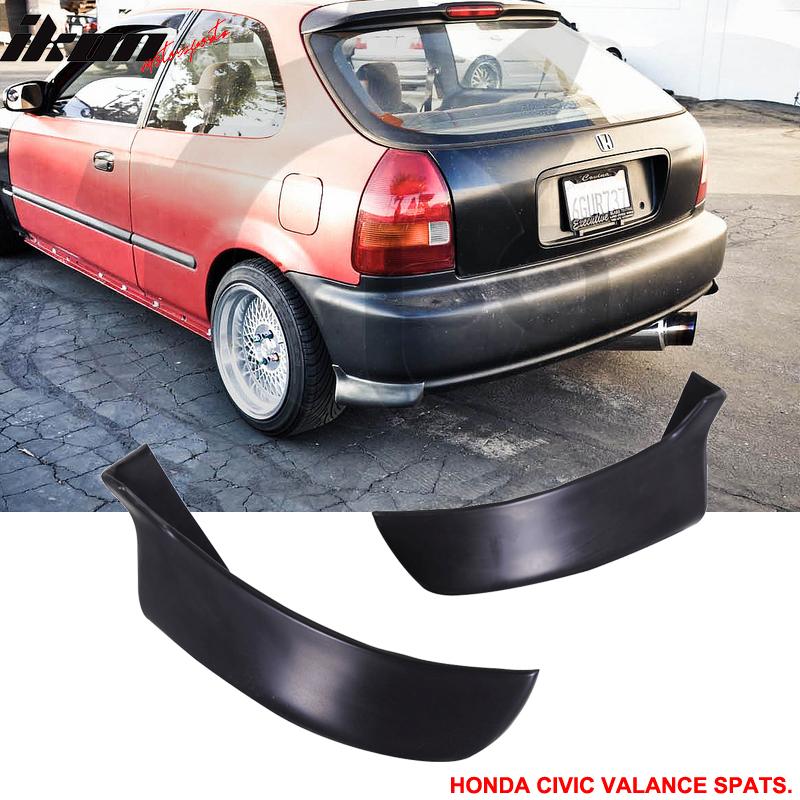 Fit for 96-00 Honda Civic 3DR Rear Bumper Lip Hatchback PU 2PC Valance Spats