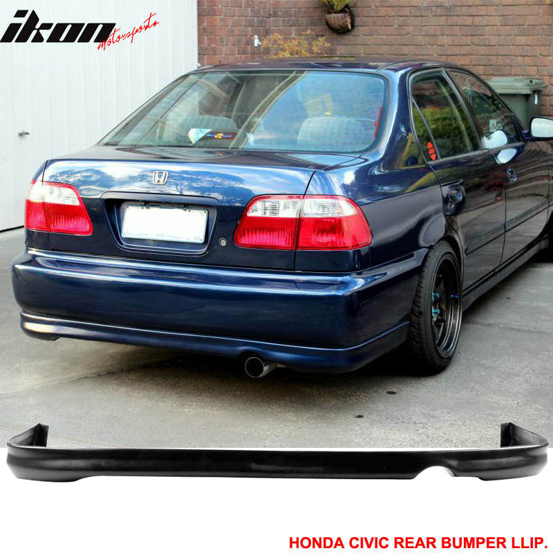 Civic Classic Sedan Black Olx: Fits 96-98 Honda Civic 2Dr/4Dr Spoon Front + Rear Bumper