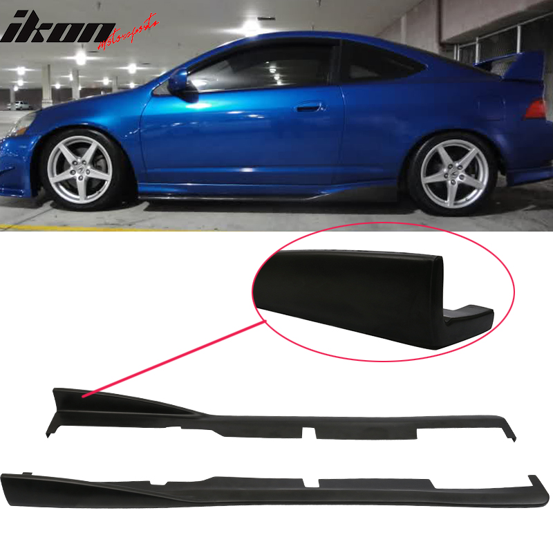 Fits 02-06 Acura RSX DC5 CS Style Bottom Line Side Skirt