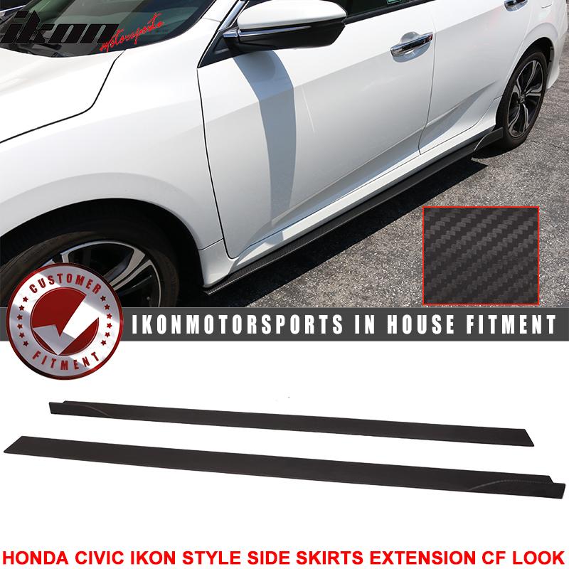 16 Up Civic Sedan Ikon Style Side Skirt Extension Flat