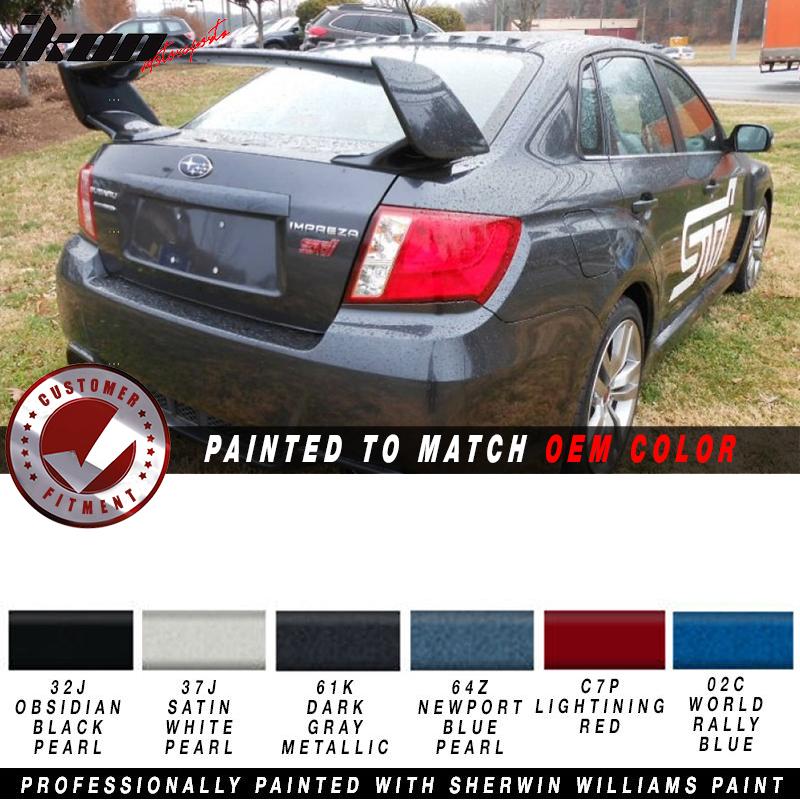 NEW OE Factory Style Painted Spoiler Wing Obsidian Black Pearl Metallic 32J