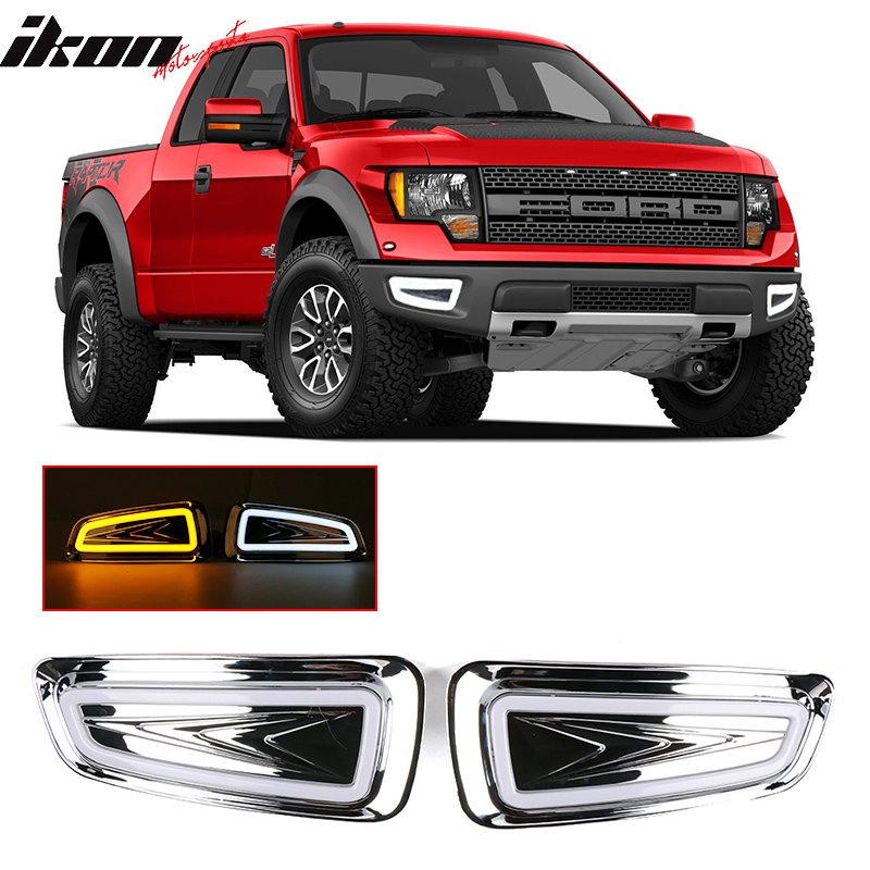 LED Daytime Running Light DRL with turn signals For Ford F150 F-150 2010--2014