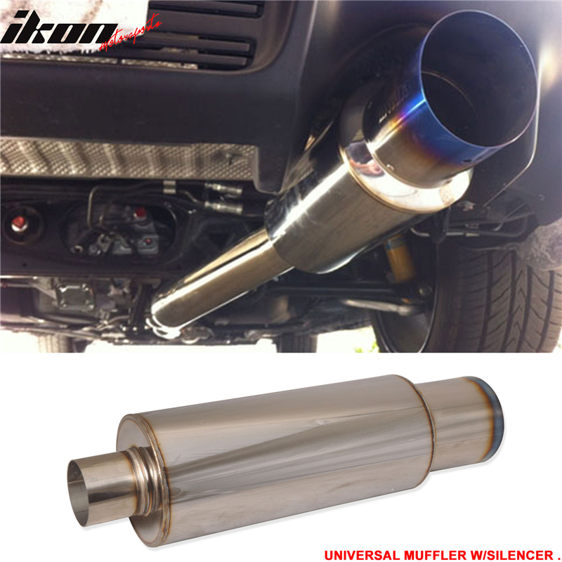 Fit 90-05 Mazda Miata Stainless Steel Muffler N1 Type 4in Flat Tip Silencer