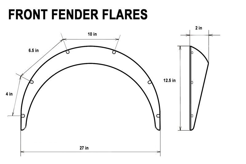 universal fender flares 4 piece flexible yet durable