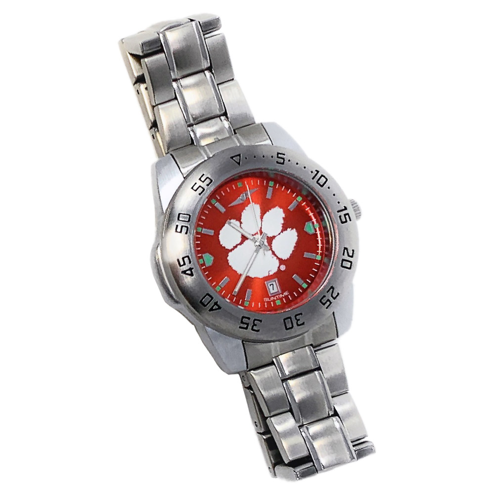Men-039-s-Oklahoma-State-University-Watch-Stainless-Steel-Dress-Watch thumbnail 4