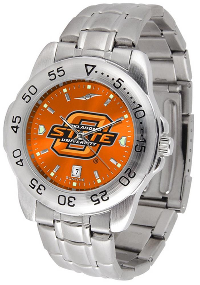 Men-039-s-Oklahoma-State-University-Watch-Stainless-Steel-Dress-Watch