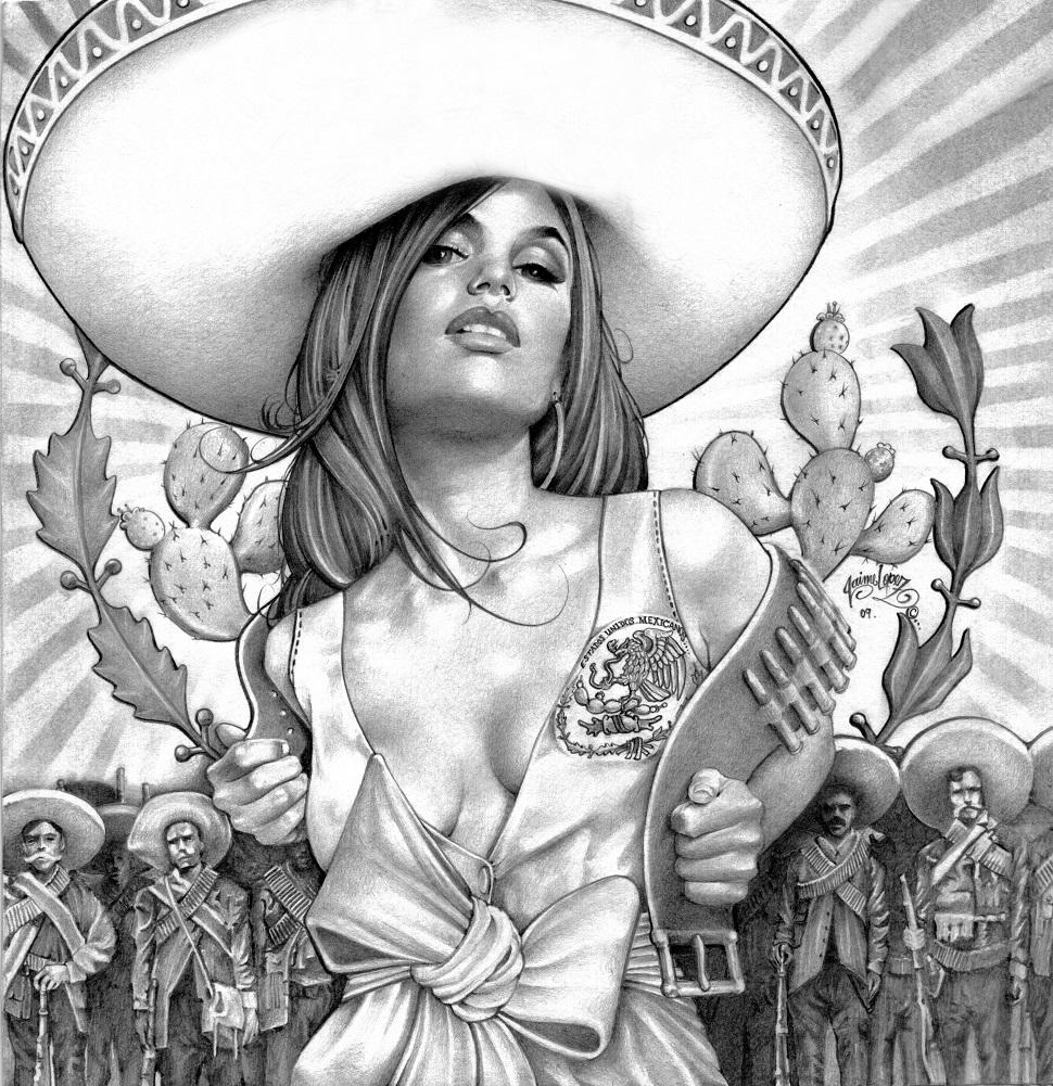 Charra Girl By Mouse Lopez Charro Mexican Girl Sombrero