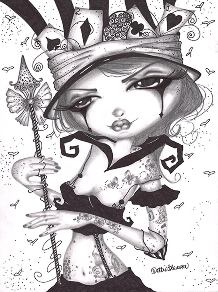 ab8bb29a58e Sweet Alice by Dottie Gleason Gothic Big Eye Girl Tattoo Canvas ...