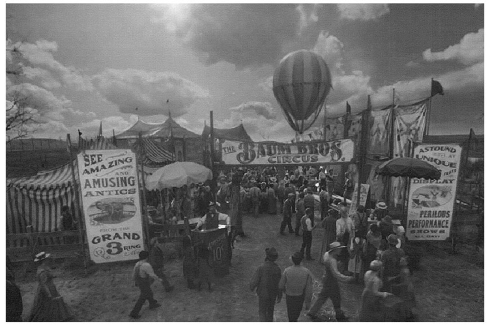 The Big Top By Annex Vintage Circus Carnival Black White