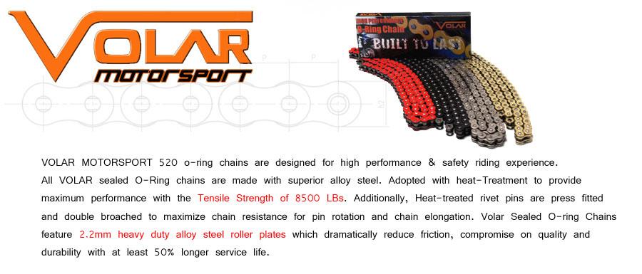 Heavy Duty for 2004-2009 Kymco Venox 250 Volar Chain and Sprocket Kit