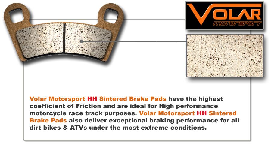 Volar Rear Brake Pads for 2002-2018 Honda CRF450R CRF450RA
