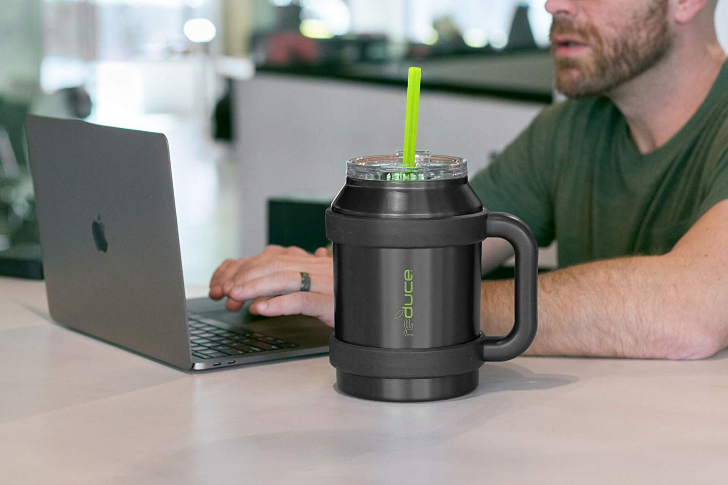 Reduce Cold 1 Thermal Mug With Wide Bottom 3 In 1 Lid Straw 50 Oz Ebay