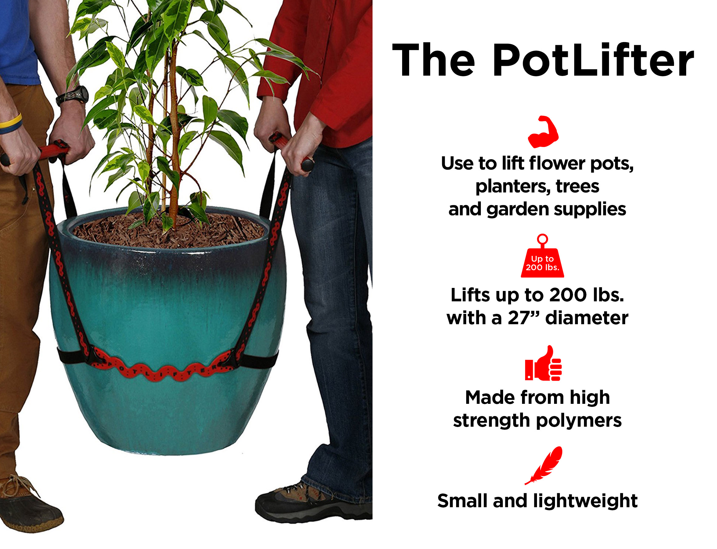 Gardening Heavy Lifting Tool Great to Lift Objects up to 200 lbs