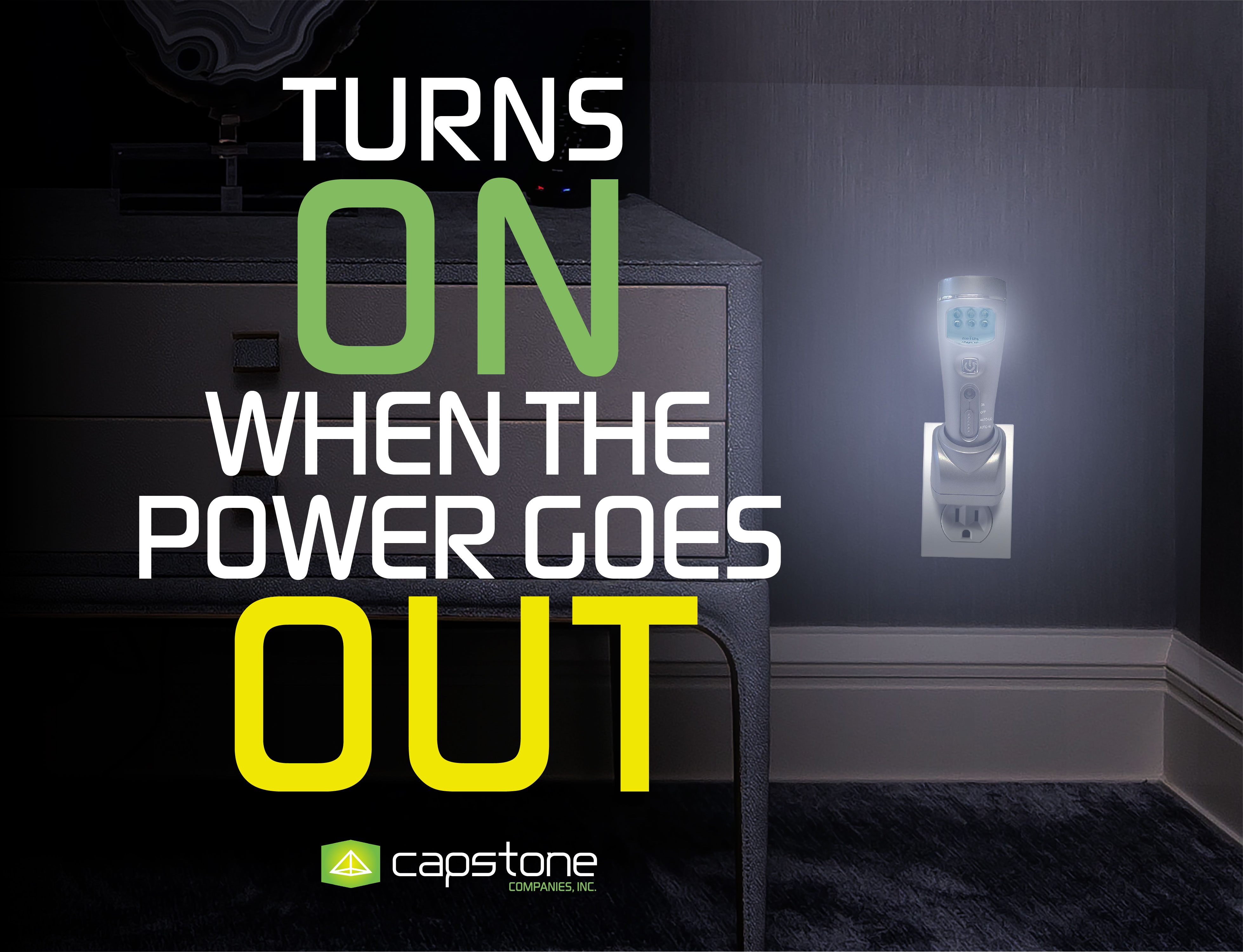 Functions as a Power Capstone 4-in-1 Eco-I-Lite 16 LEDs Portable  Rechargeable