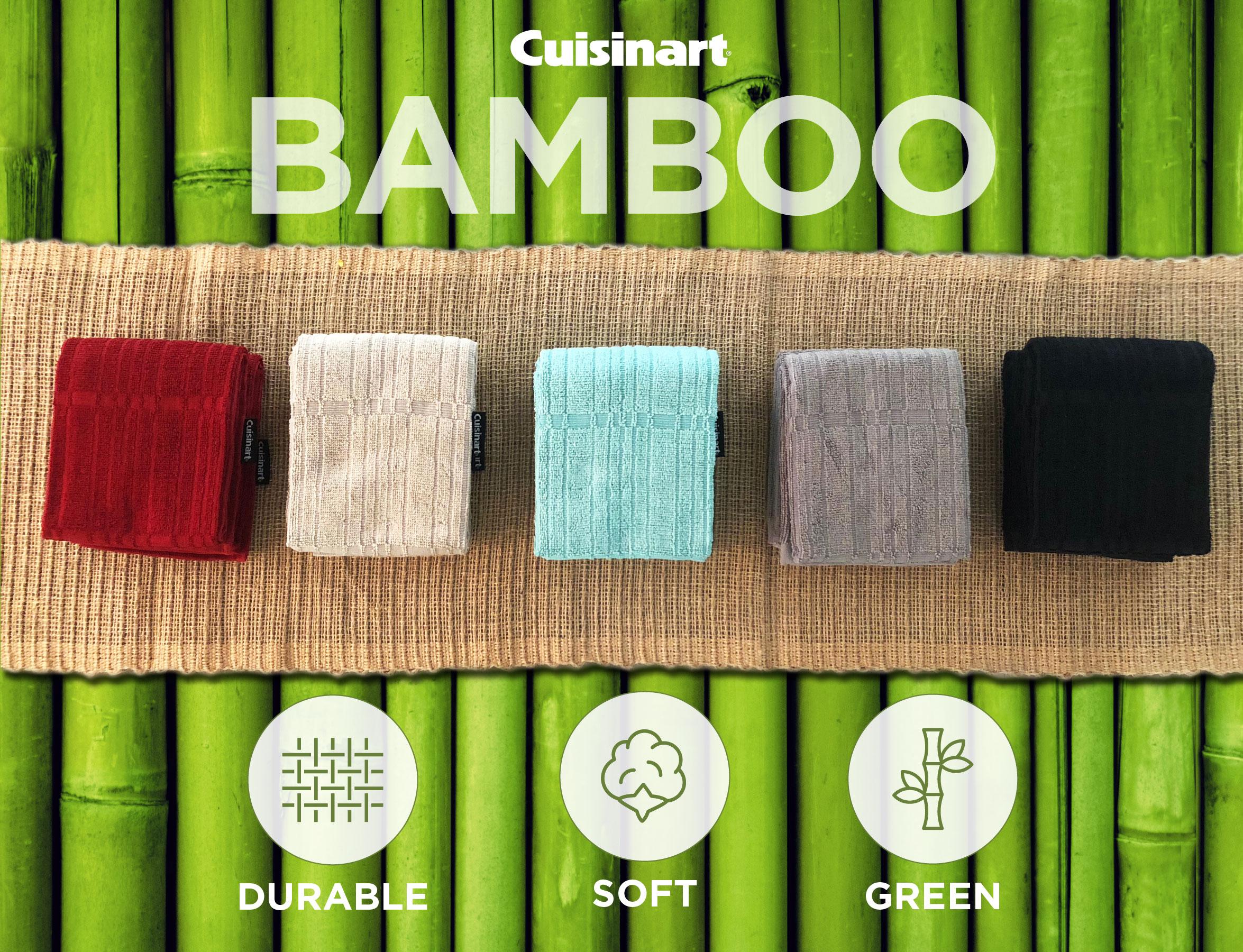 Details about Cuisinart Premium Bamboo/Cotton Fiber Blend Kitchen Towels-  Set of 2, 16\