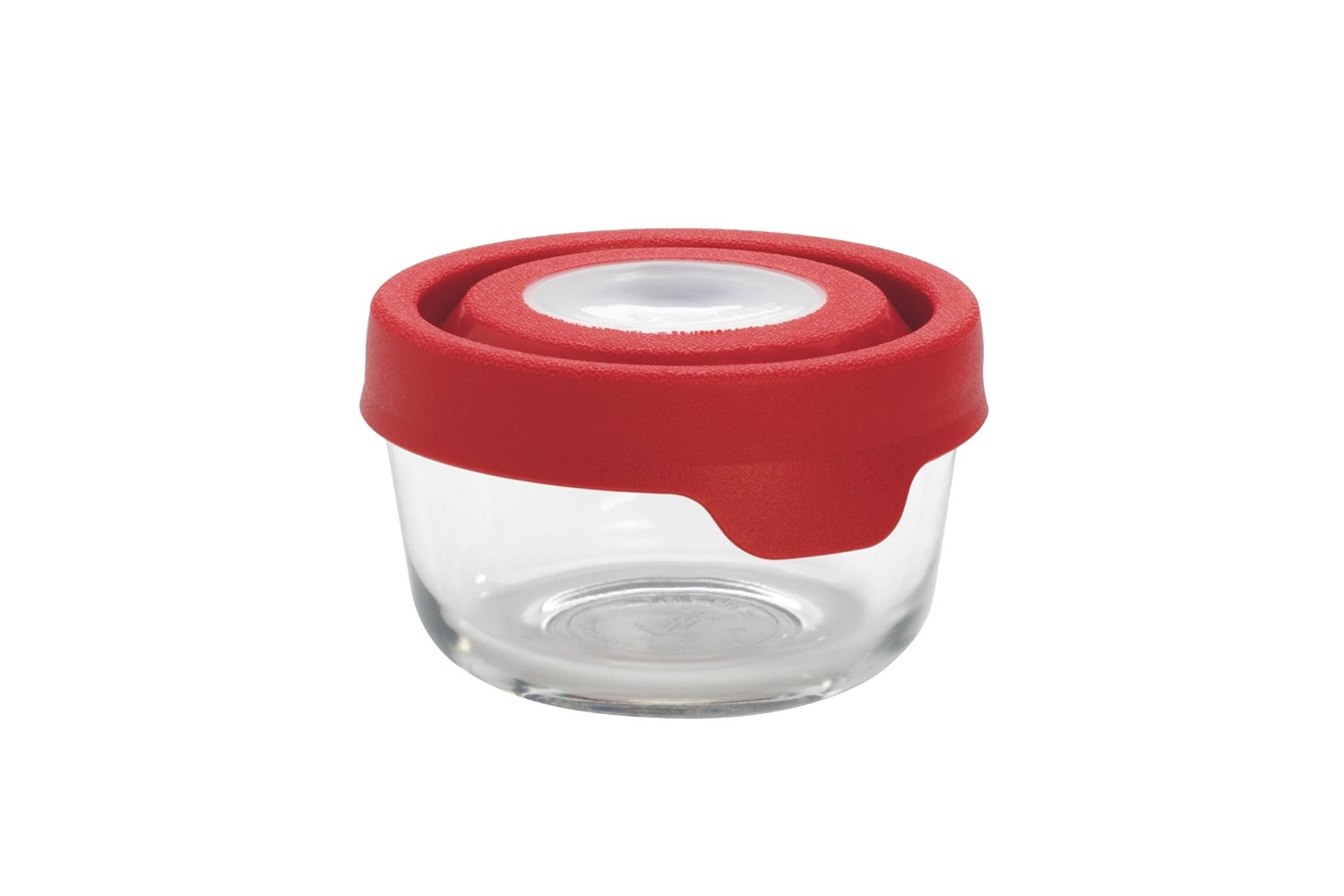 Anchor Hocking TrueSeal Glass Food Storage Container Red 1 Cup
