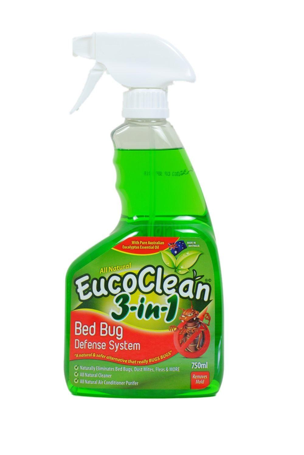 All Natural Eucoclean Bed Bug Killer Flea Dust Mite Defense