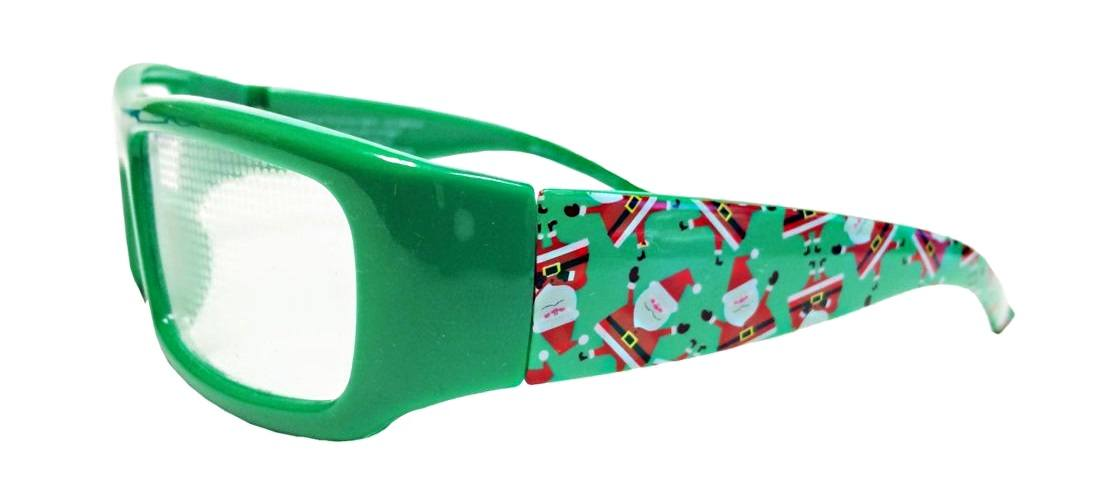 holiday specs 3d plastic christmas glasses