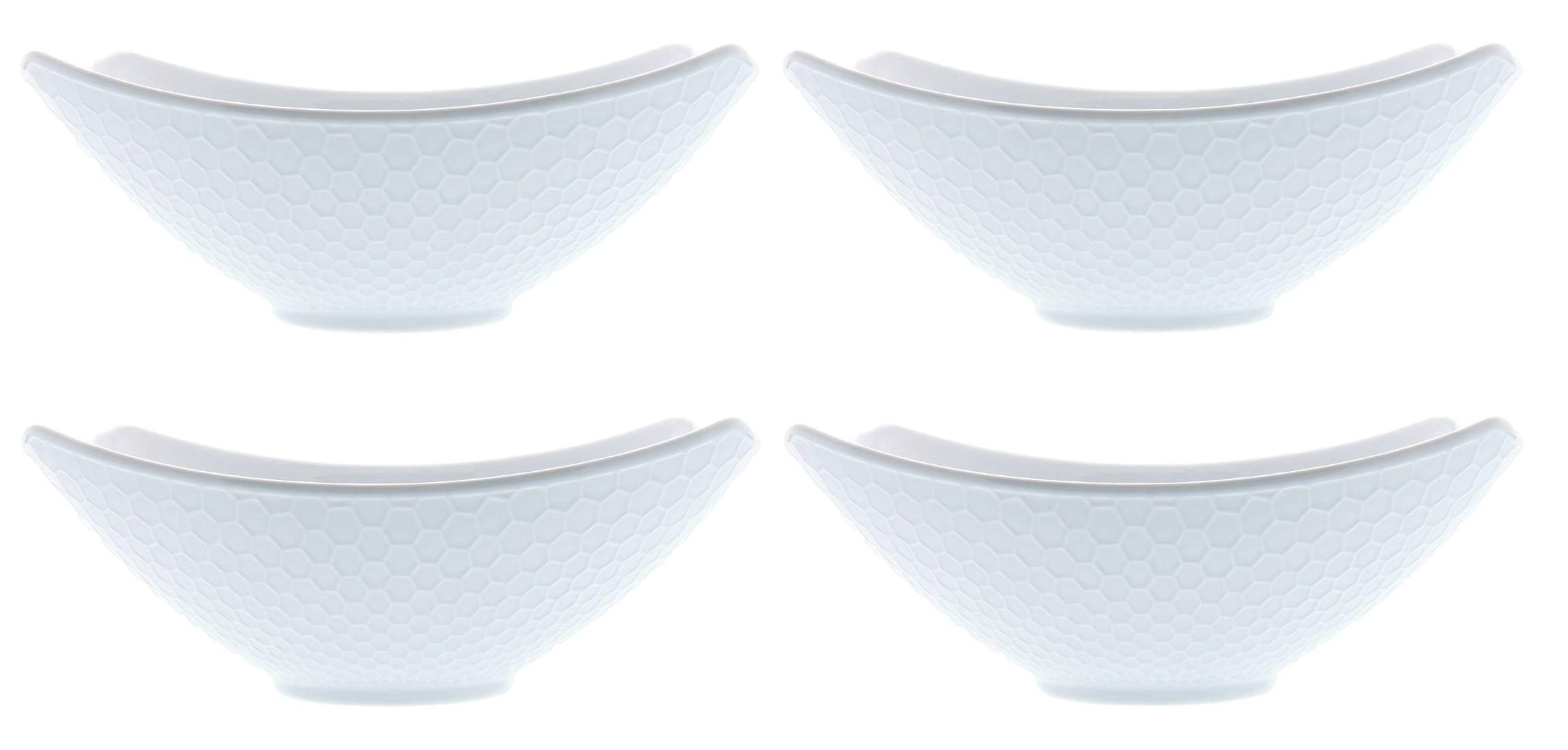 Over and Back Honeycomb Porcelain Serving Bowls - Set of 4 | eBay