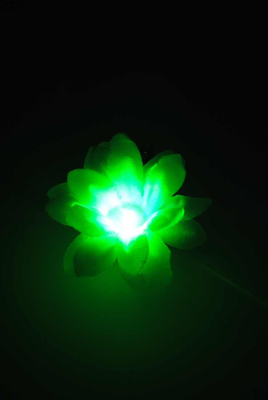 Zuzu Flowers 1 Multi Color Changing Led Light Up Snap Hair Clip Ebay