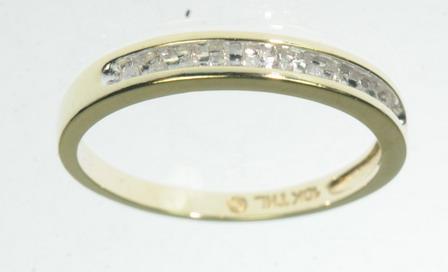 10K SOLID YELLOW GOLD DIAMOND WEDDING BAND ESTATE RING J216167