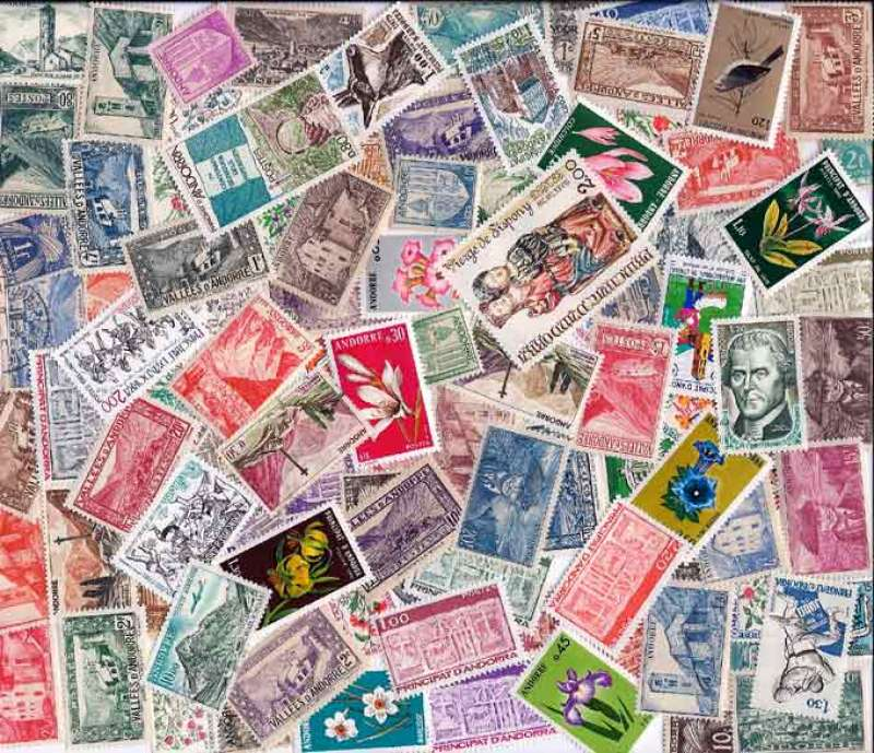 A Beautiful Collection Of 50 Different Stamps From French Andorra The Lot Is Mostly Large With Complete Sets Included This Very Nice Grouping