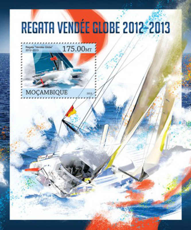 mozambique - regatta-vendee globe - stamp souvenir sheet - 13a