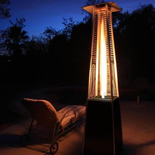 Garden Radiance Stainless Steel Pyramid Outdoor Patio