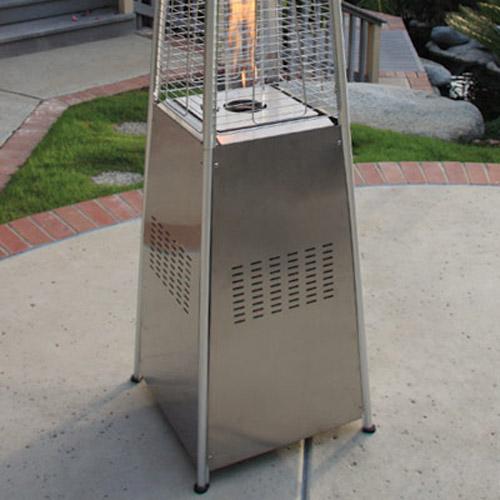 pyramid outdoor gas patio heater table top gardenradiancestainlesssteelpyramidoutdoorpatioheater garden radiance stainless steel pyramid outdoor patio heater