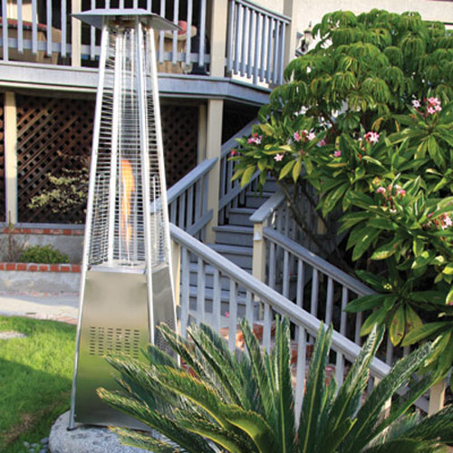 Garden Radiance Stainless Steel Pyramid Outdoor Patio Heater