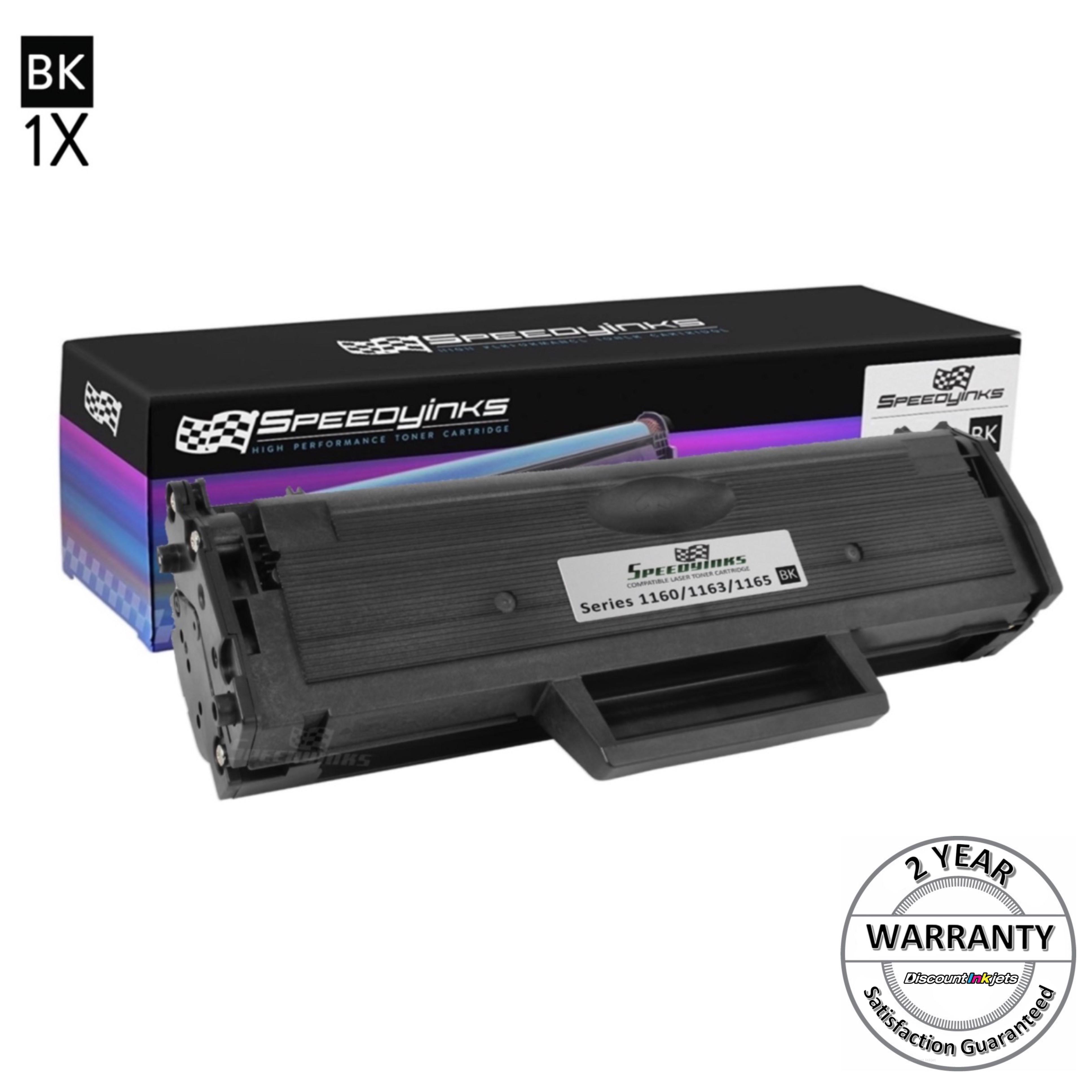 2pk black Ink toner cartridge for Dell B1160w 331-7335 HF442 YK1PM Laser Printer