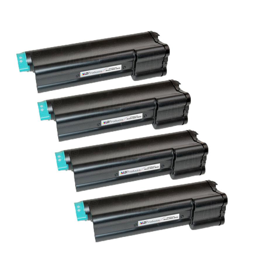 MB470 /& B430dn 6pk For Okidata 43979201 HY Black Laser Toner MB460 B430d