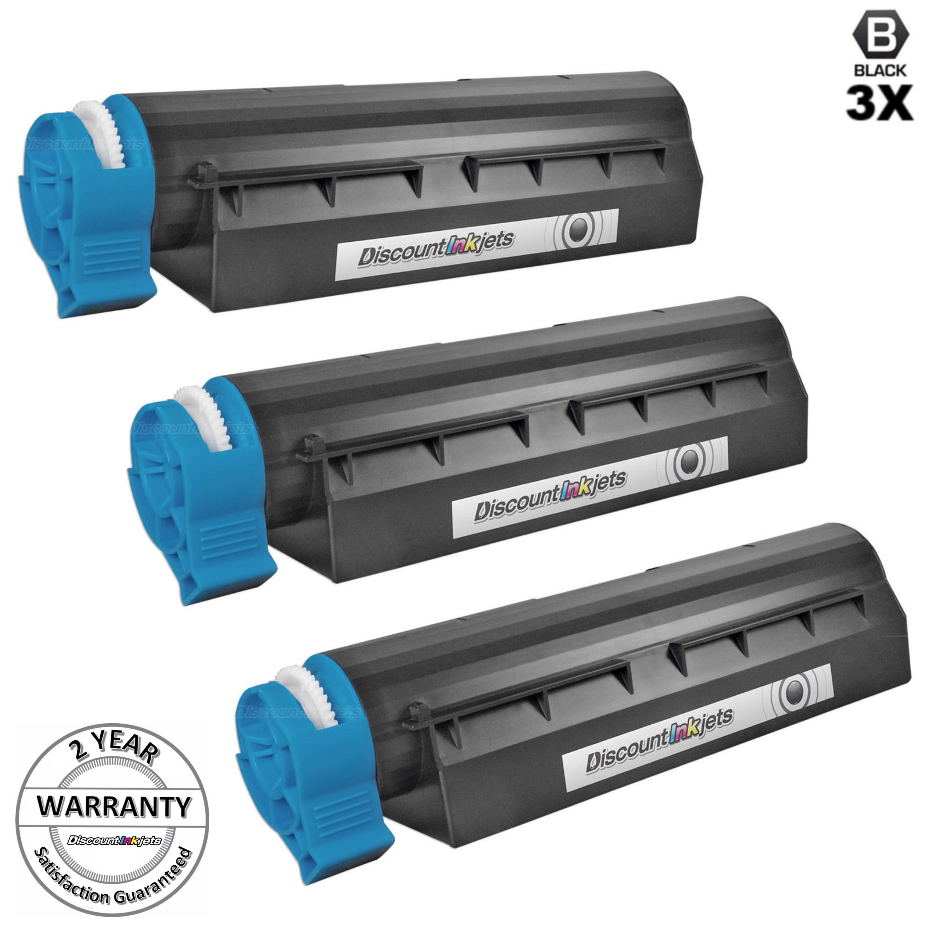 10 PACK 44574701 Black Printer Laser Toner Cartridge for Okidata Oki B411dn