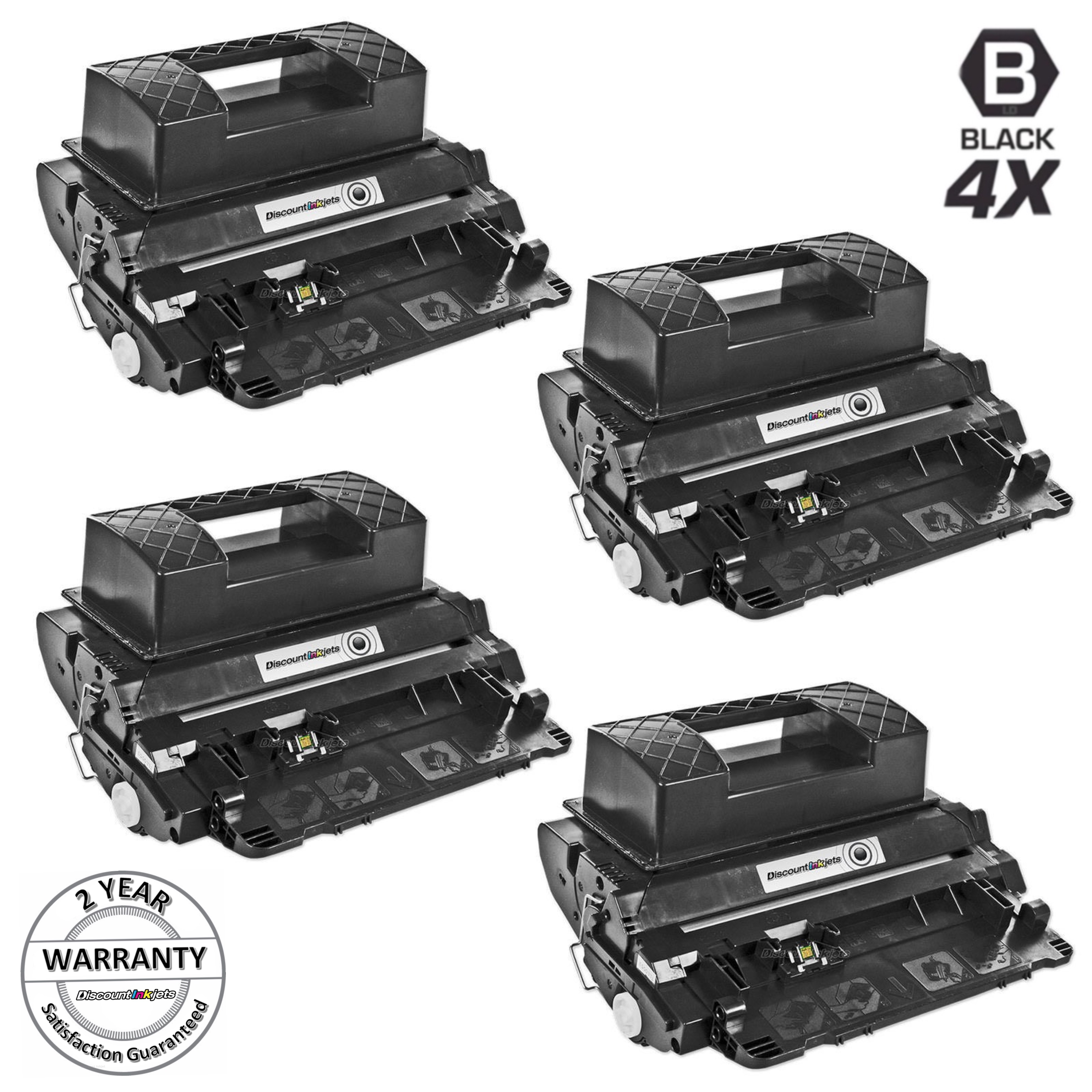 4 pack CC364X Toner Cartridge fits HP P4015dn P4515tn P4515n P4515x Printer