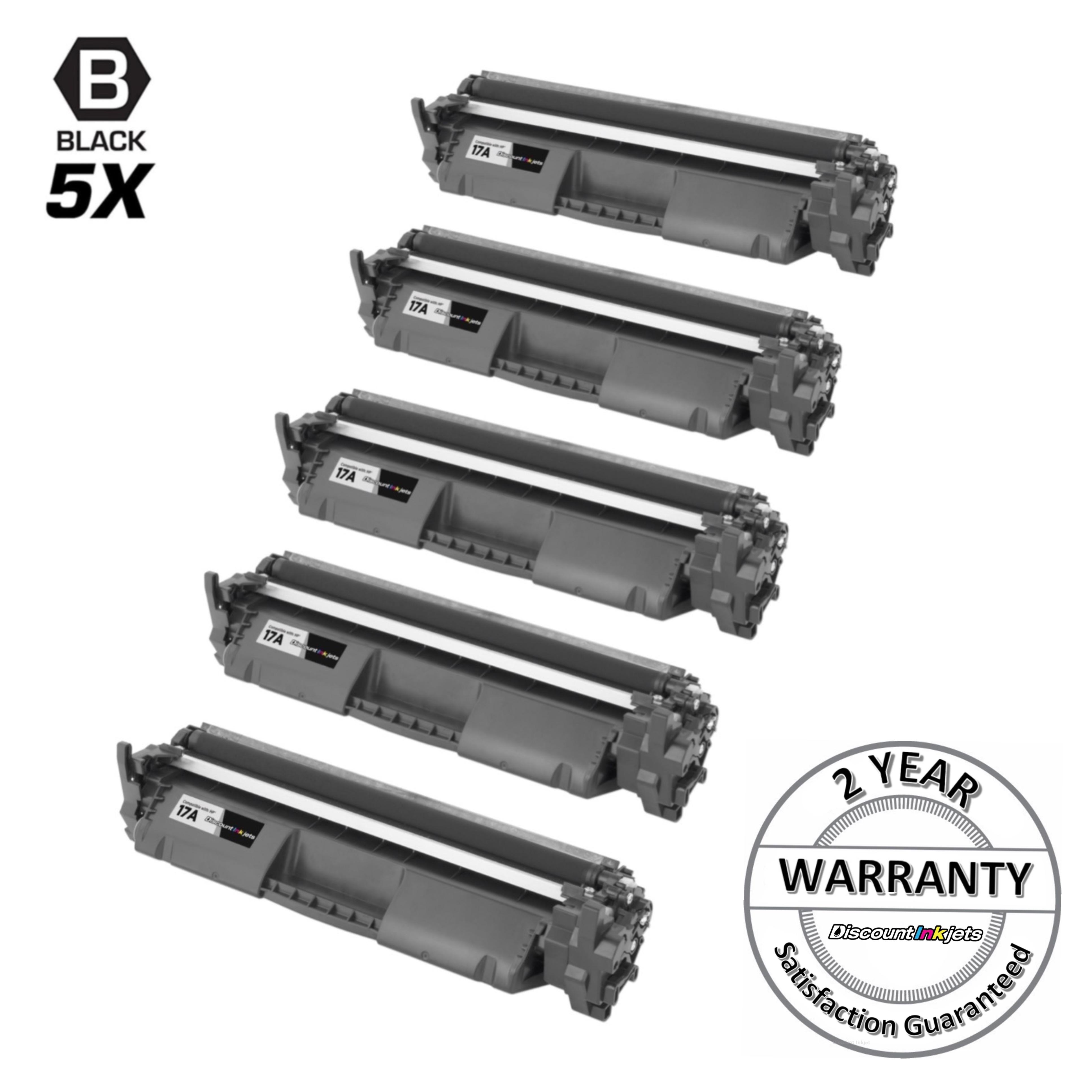 2pk Comp Black Laser Toner Cartridge w//chip for HP CF217A 17A M102a M130a M130nw