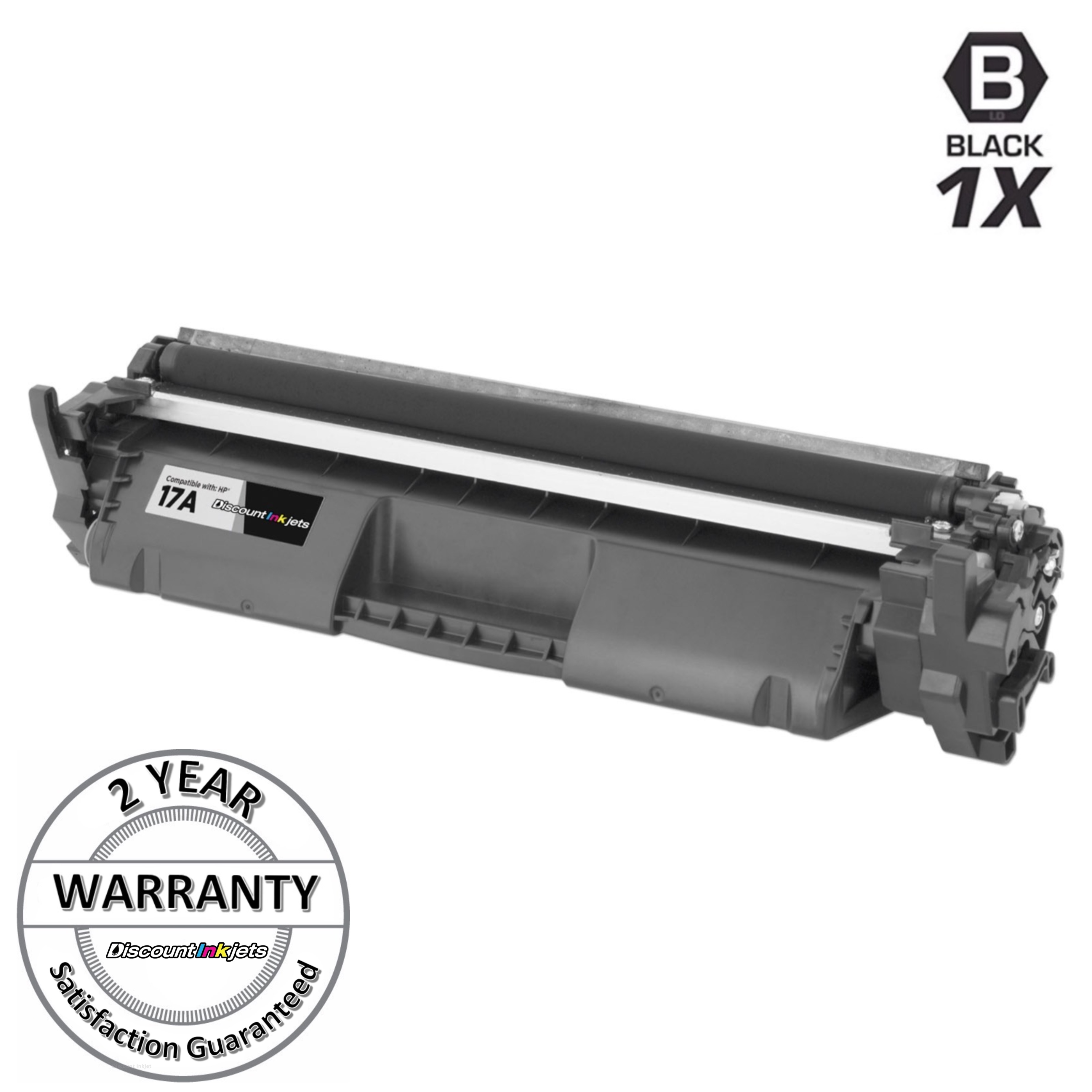 2pk Comp Black Laser Toner Cartridge w//chip for HP CF217A 17A MFP M130fn M130fw