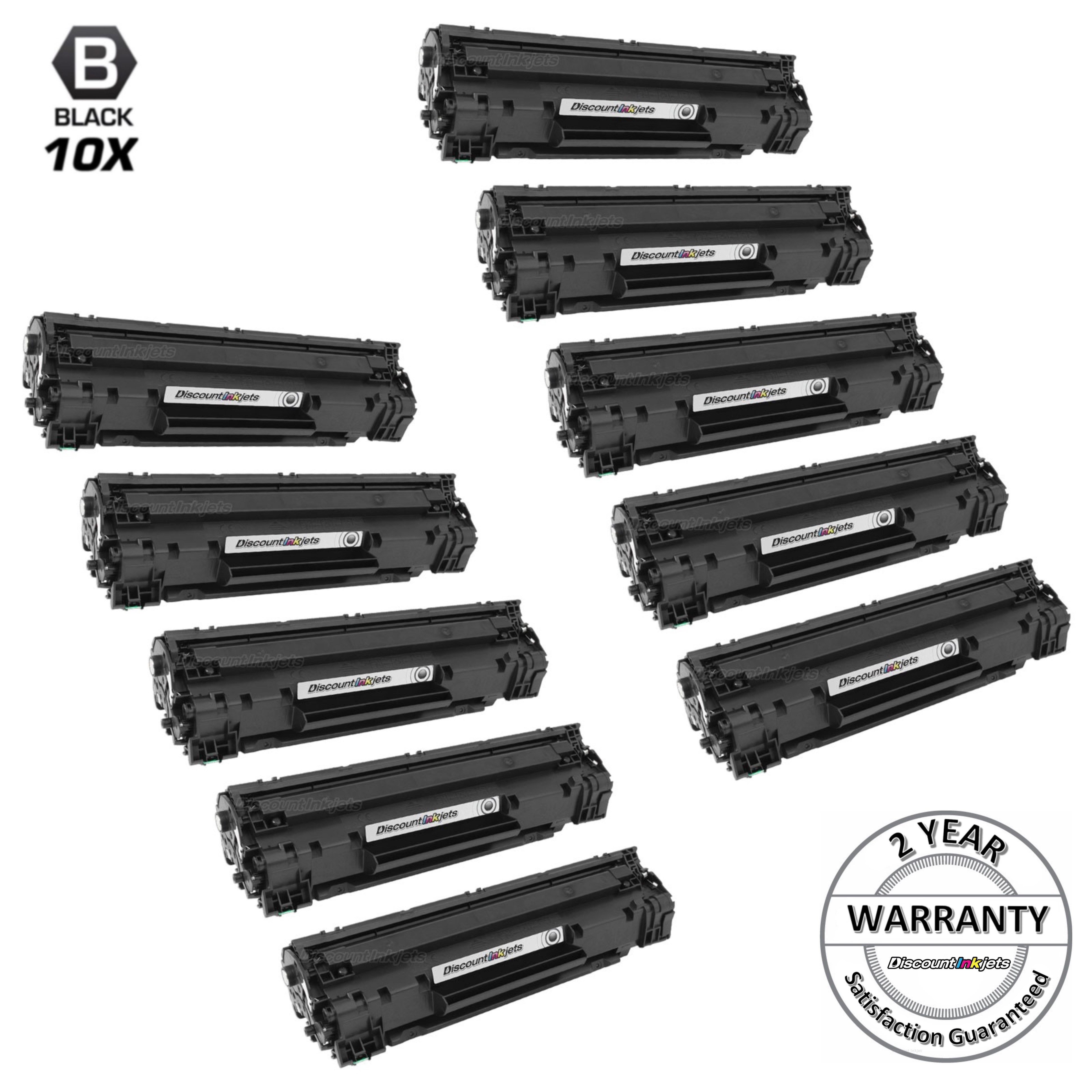 2 CF283A 83A Black Laser Toner Cartridge for HP M201dw M201n M125a M125nw