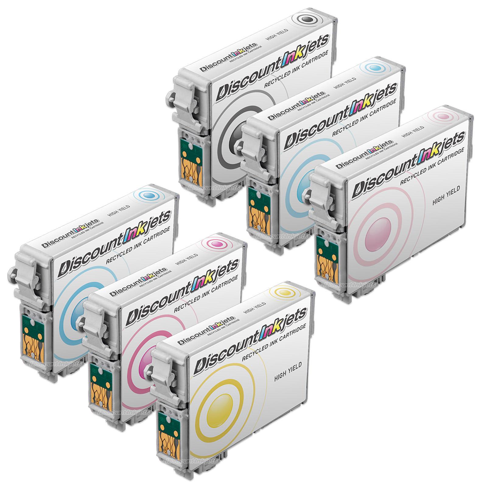 6-Pk//Pack T098 T099 REMAN Ink For Epson Artisan 700 710 725 730 800 810 835 837