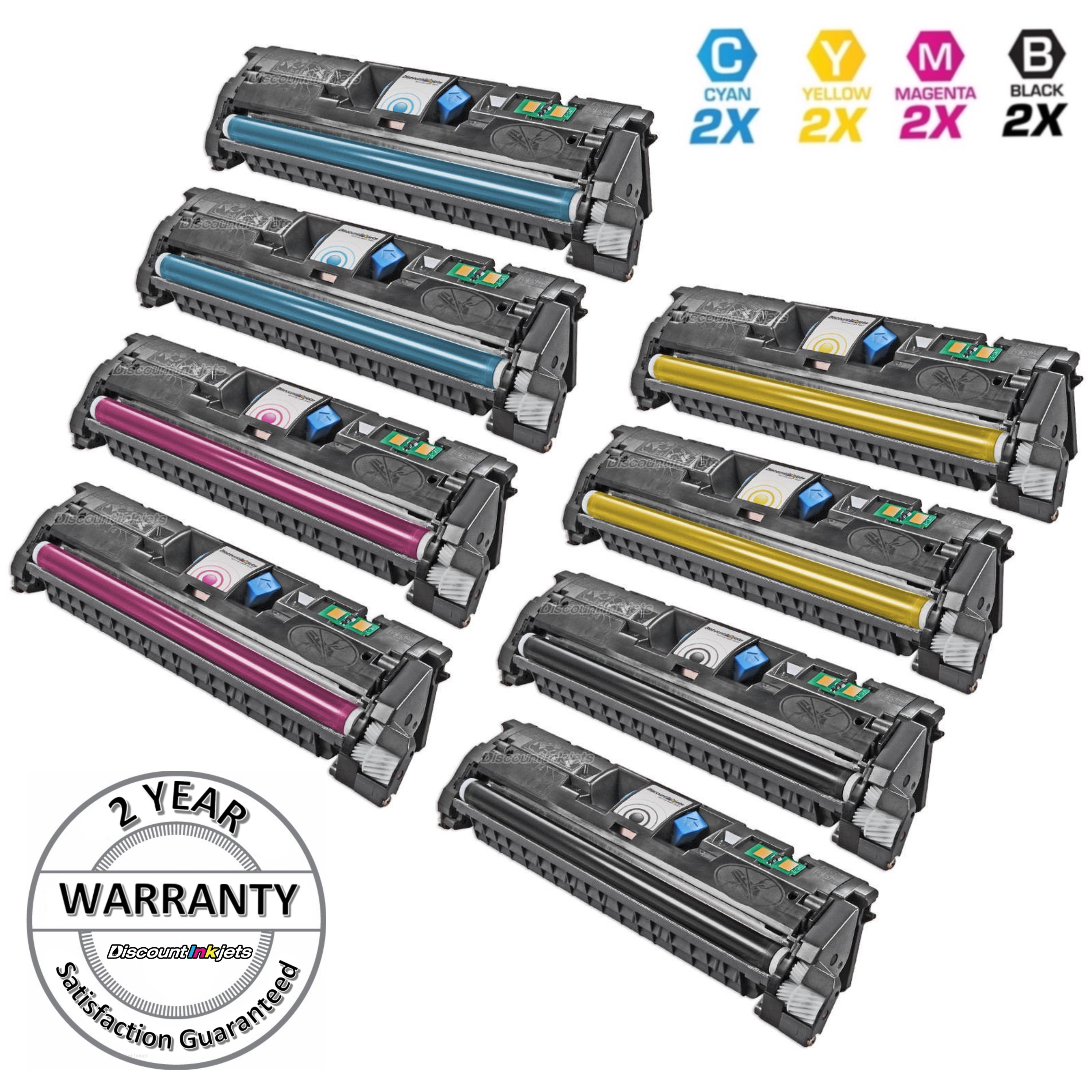 Q3962A HP 122A Yellow Remanufactured Replacement for HP 2550 2550L 2820 2840