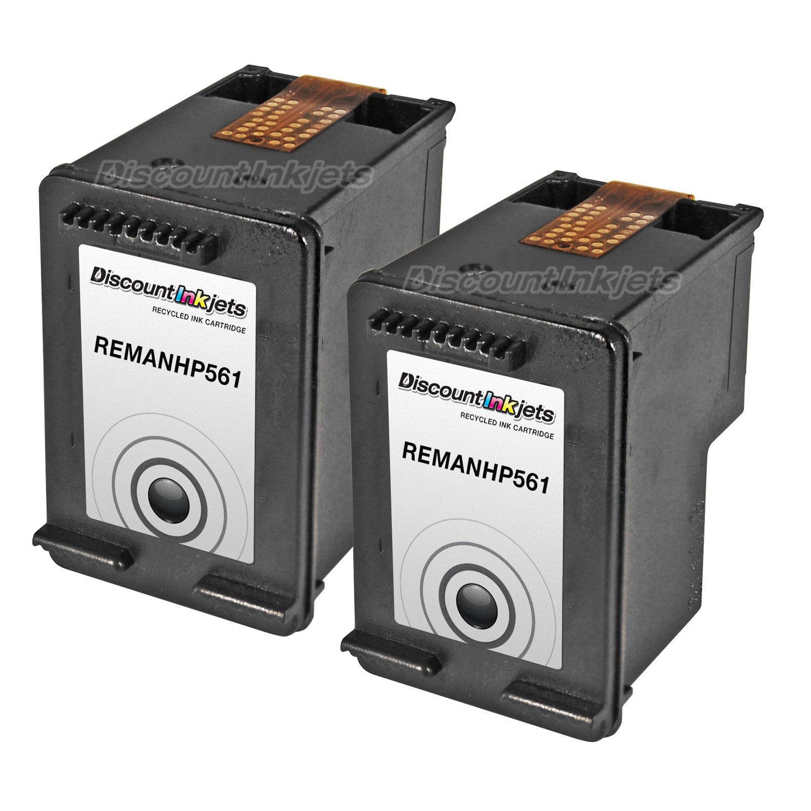 2 Ch561wn Black Printer Ink Cartridge For Hp 61 61 Deskjet