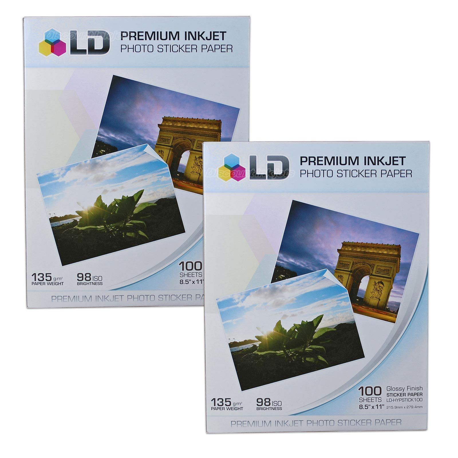 2 Ld Glossy Inkjet Photo Paper 85 X 11 100 Pack With Sticker