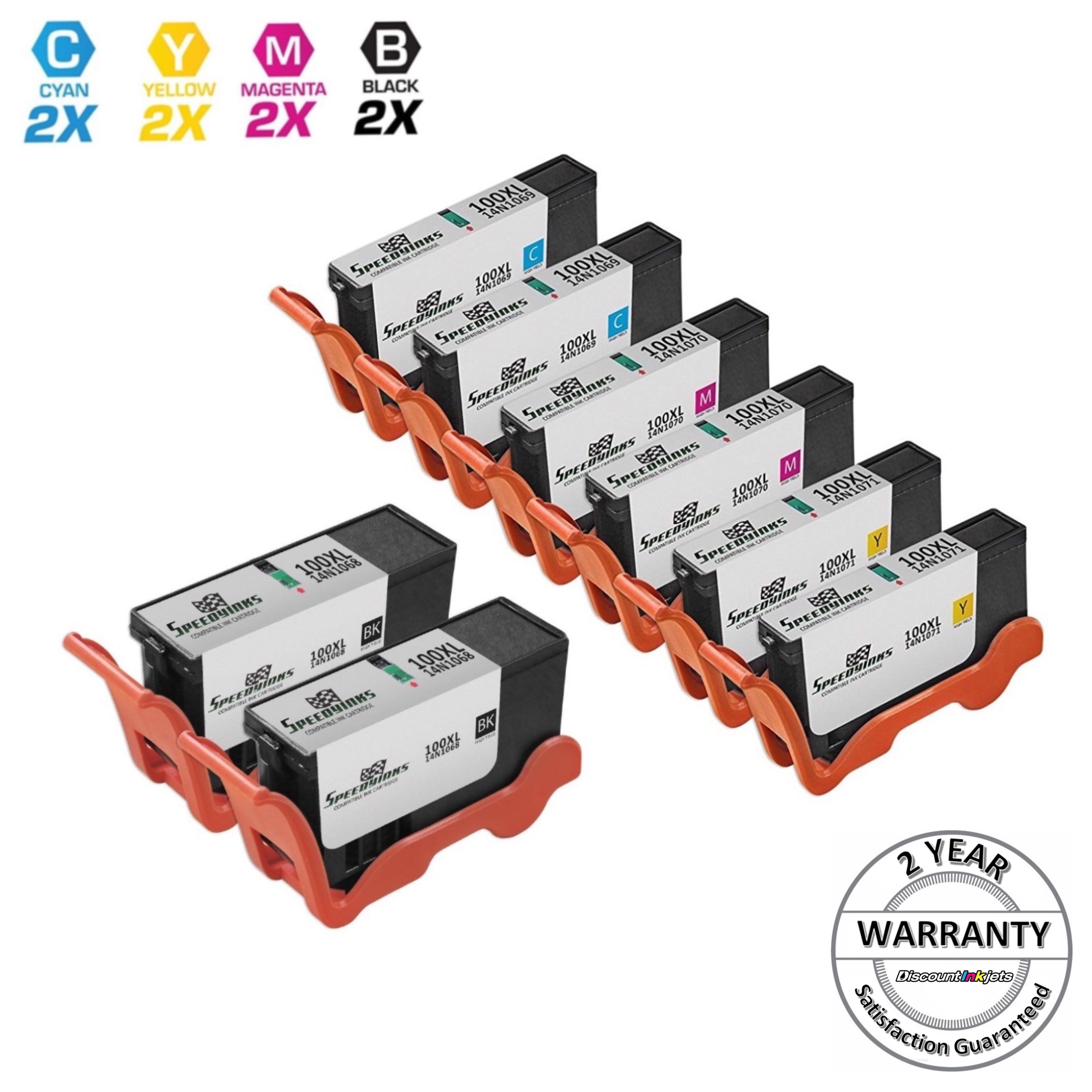 10 Pk 100XL Ink Cartridge H Yield For Lexmark S301 S305 S405 S505 S605 S815 S816