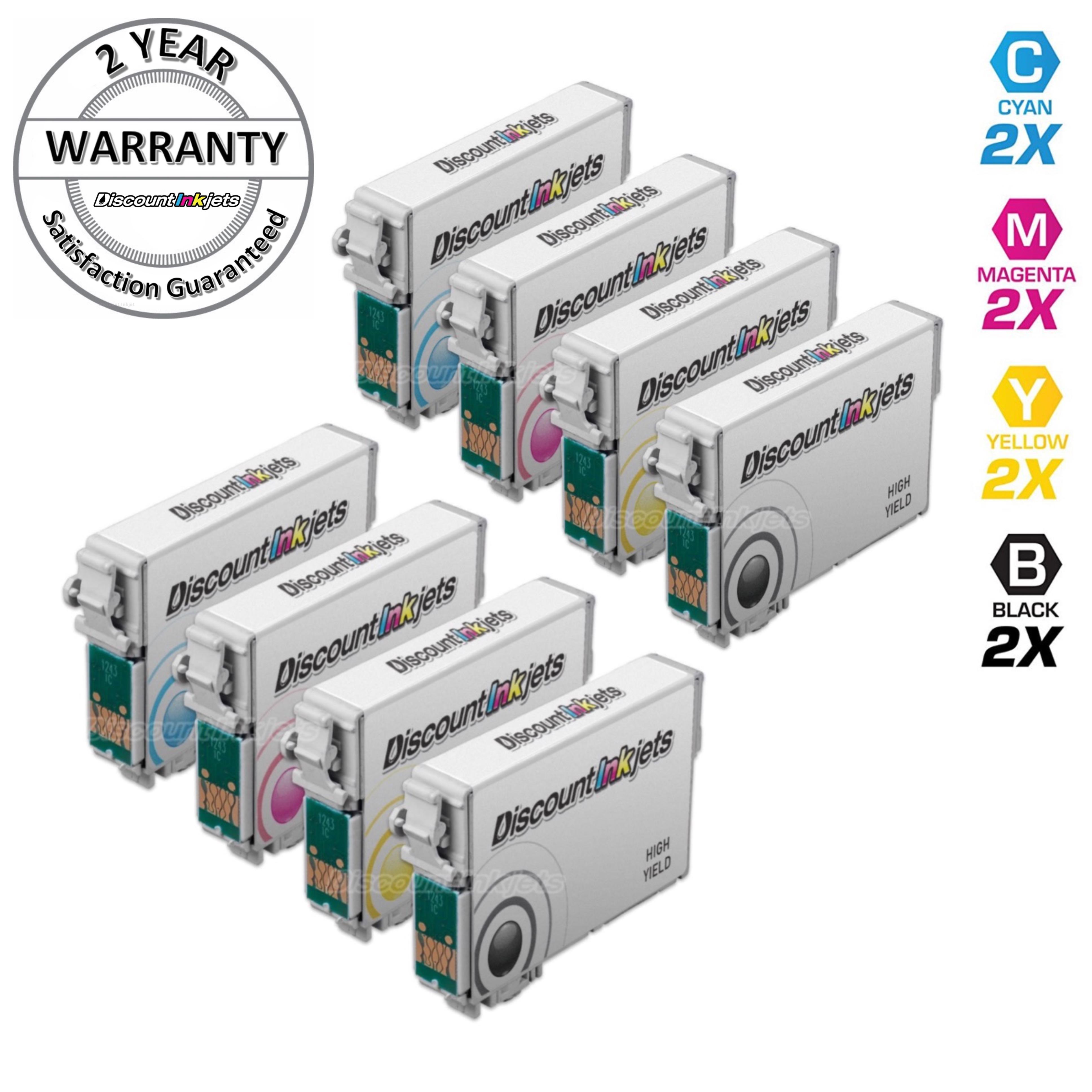5pk T126 126 Black /& Color Printer Set Ink Cartridge for Epson WorkForce WF-3540