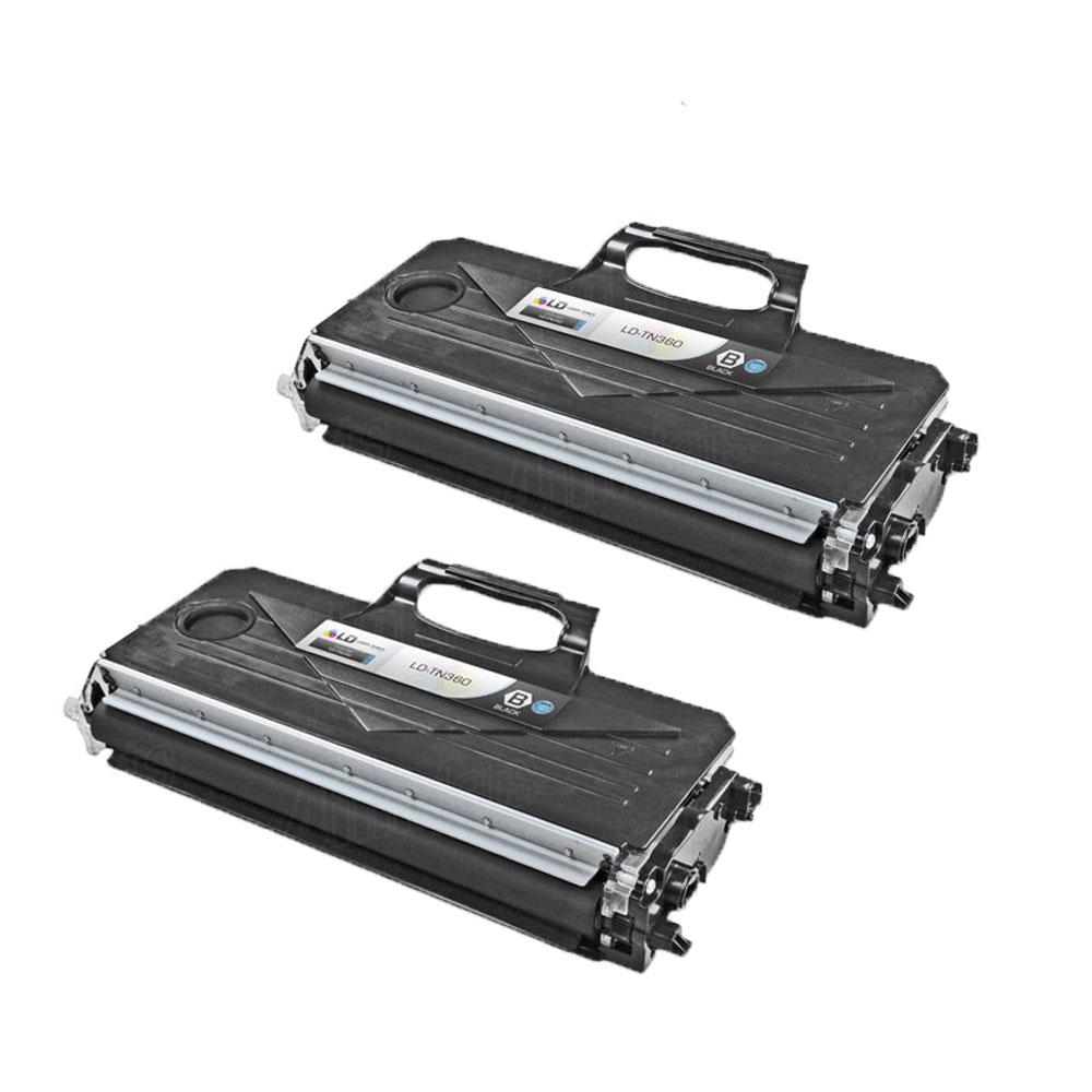 2 pack tn360 black reman toner cartridge for brother mfc. Black Bedroom Furniture Sets. Home Design Ideas
