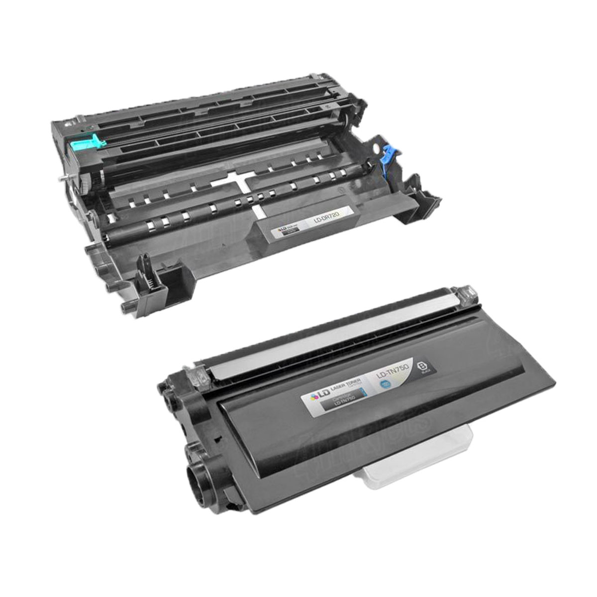 2 Pack TN750 /& DR720  Printer Toner Cartridge /& Drum for Brother HL-5470DWT