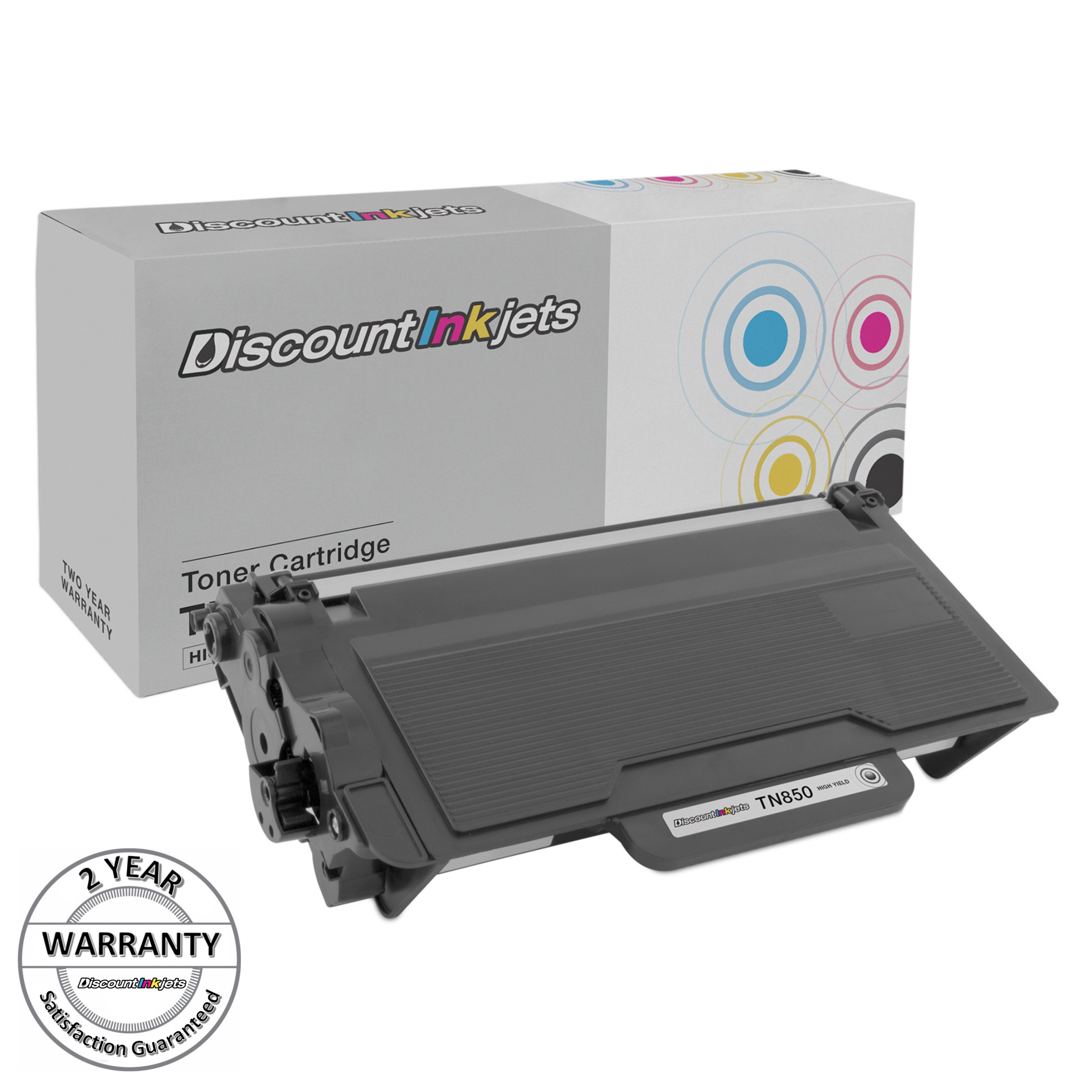 2 Black Toner Cartridge TN850 For Brother TN-850 MFC-L6900DW HL-L5200DW//L5200DWT