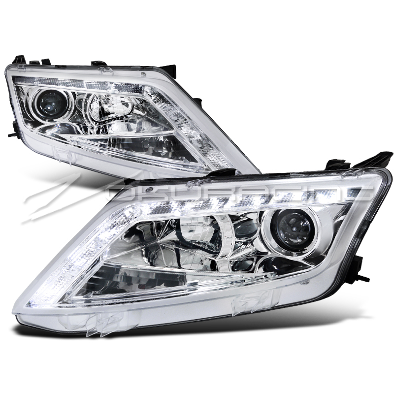 2010 2012 ford fusion led drl projector headlights ebay. Black Bedroom Furniture Sets. Home Design Ideas