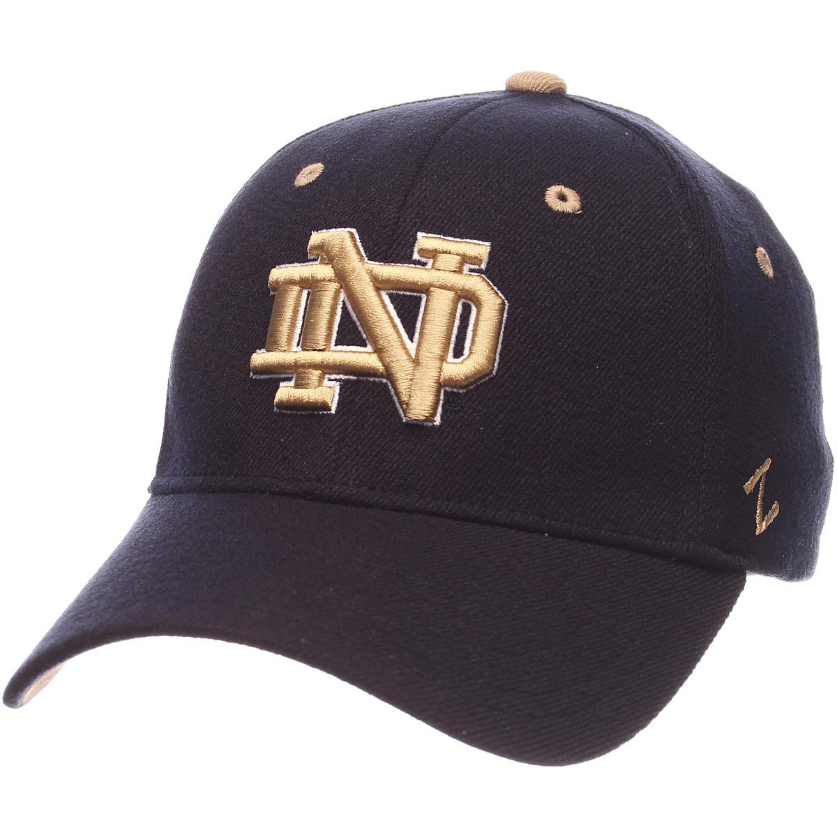 ZEPHYR-MEN-039-S-NOTRE-DAME-FIGHTING-IRISH-ZH-ZWOOL-STRETCH-FIT-HAT-NAVY