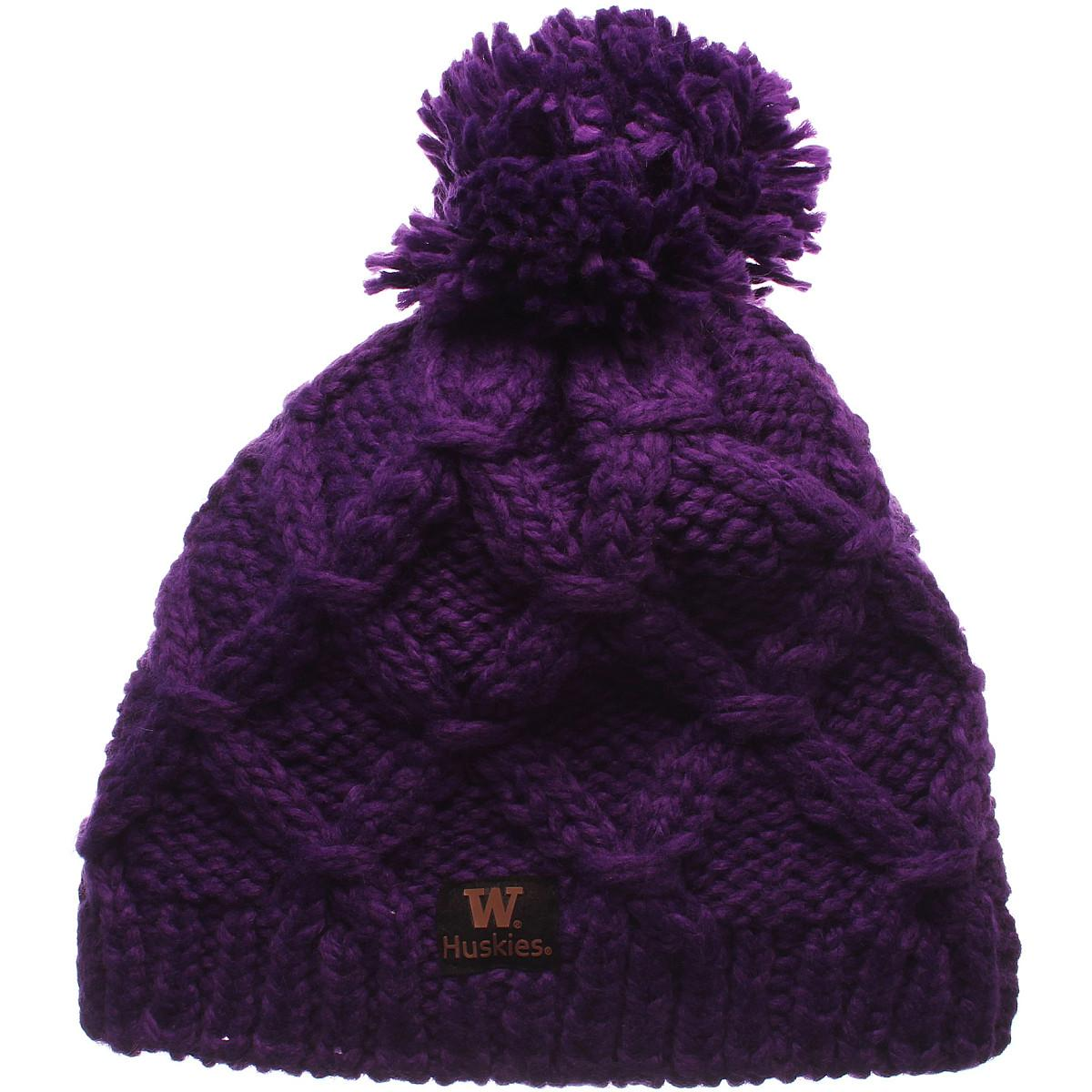 ac8b5c2514e ZEPHYR WOMEN S WASHINGTON HUSKIES MARILEN KNIT HAT PURPLE ADJ ...