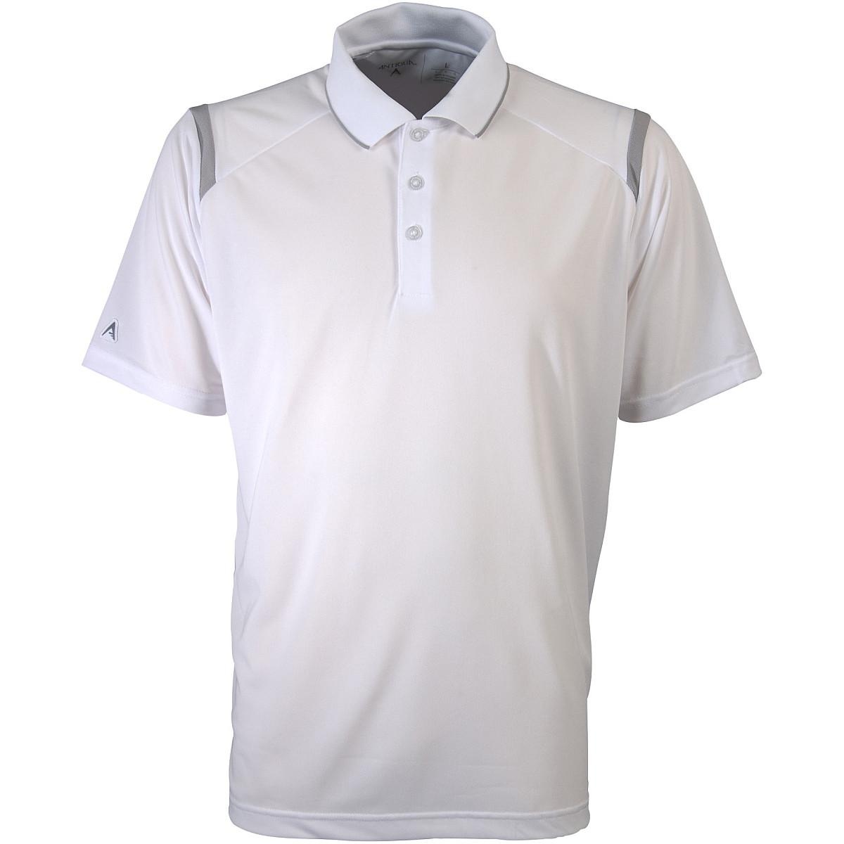 Antigua Men s Merit Polo Shirt S White Silver. About this product. Picture  1 of 2  Picture 2 of 2 97d4d207d